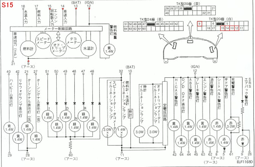 s13 dash lights wiring example electrical wiring diagram u2022 rh cranejapan co Blue Bird Bus Wiring Diagrams S14 Wiring-Diagram Cab